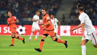 Alessandro Del Piero, 39 anni, con la maglia dei Delhi Dynamocs. Afp
