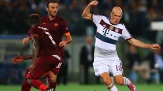 Arjen Robben, 30 anni, è stato il migliore in campo contro la Roma. Getty