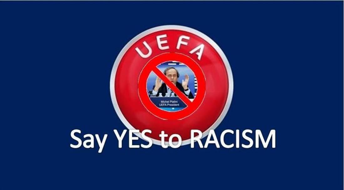 Platini e il logo della Uefa sono i più gettonati. Social