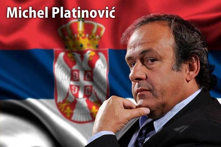 C'è addirittura che ne ha preparato l'alter ego serbo: Michel Platinovic. Social