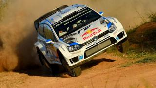 Sebastien Ogier in azione. Getty