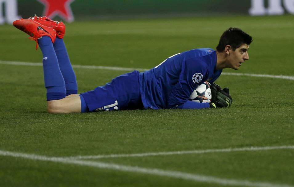 Il portiere belga Thibaut Courtois, passato in estate dall'Atletico Madrid al Chelsea. Action Images