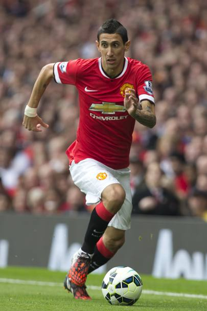 L'argentino Angel Di Maria, passato in estate dal Real Madrid al Manchester United. Ap