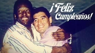 Maradona e Pel� si abbracciano nell'ironico tweet del Santos