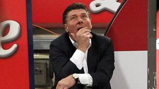 Walter Mazzarri, allenatore dell'Inter. Forte