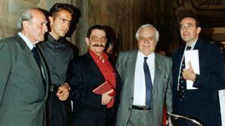 Nel 2000 Alfredo Martini, Franco Ballerini, Luigi Ballerini, Antonio Maspes e Riccardo Nencini. Ansa