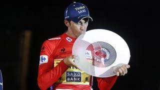 Alberto Contador vincitore della Vuelta 2014. Bettini