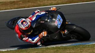Casey Stoner nei test Honda.