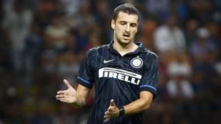 Zvradko Kuzmanovic, 27 anni, centrocampista dell'Inter. Lapresse