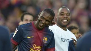 Eric Abidal (35) con la maglia del Barcellona. Ap