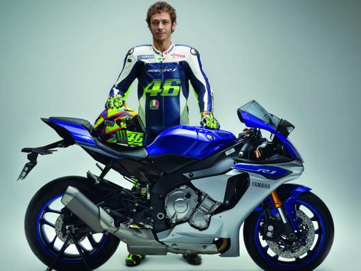 Valentino Rossi con la nuova Yamaha R1