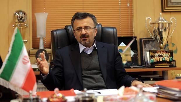 Mohammad Reza Davarzani, presidente della Federazione iraniana. AFP