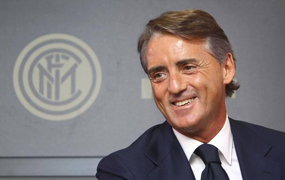 Un sorridente Roberto Mancini. Getty