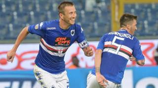 Daniele Gastaldello, capitano della Sampdoria. Ansa