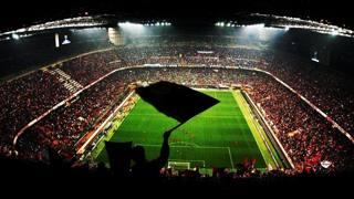 Un'immagine dello stadio Giuseppe Meazza di Milano.