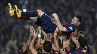 Leo Messi, 27 anni, 253 gol in Liga. Afp