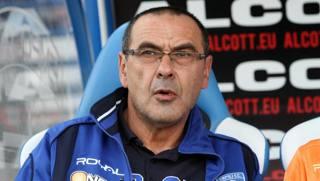 Maurizio Sarri, tecnico dell'Empoli. Ansa