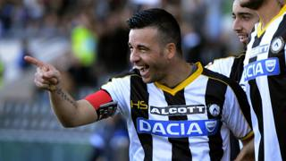 Antonio Di Natale, 37 anni, 200 reti in Serie A. Getty