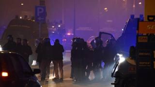Gli scontri di Bergamo. Ansa