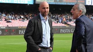 Tommaso Giulini, presidente del Cagliari, ieri al San Paolo. Lapresse