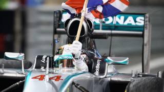 Lewis Hamilton festeggia il secondo mondiale. Getty Images