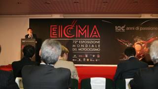 L'apertura dell'Eicma di inizio novembre. LaPresse