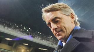 Roberto Mancini, tecnico dell'Inter. Ansa