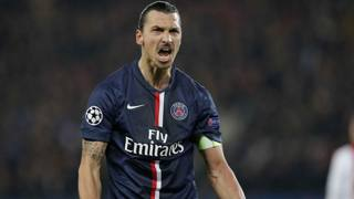 Zlatan Ibrahimovic, 33 anni, attaccante del Psg. LaPresse