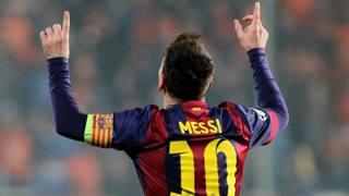 Lionel Messi, 27 anni, 371 reti con il Barcellona. Afp
