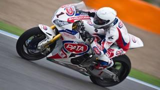 Guintoli nei test di Jerez con la Honda