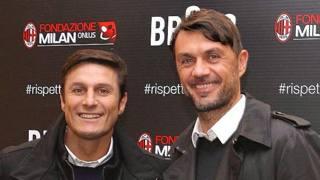Javier Zanetti e Paolo Maldini.(Twitter)