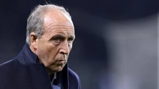 Giampiero Ventura, 66 anni, durante la serata dell'Olimpico. LaPresse