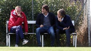 Zdenek Zeman con Antonio Conte e Gabriele Oriali. Lapresse