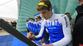Federico Zurlo, 20 anni, con la nazionale  under 23. Bettini