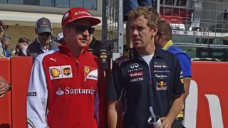 Kimi Raikkonen con Sebastian Vettel. Colombo