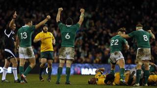 Festa Irlanda a fine match: Australia battuta. Action