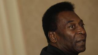 Pelé, 74 anni, ha vinto 3 volte il Mondiale con il Brasile. Afp