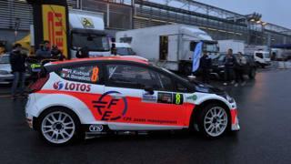 Kubica, sulla Fiesta al Rally di Monza. LaPresse