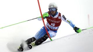 Ted Ligety in azione a Levi. Ap