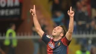 Andrea Bertolacci, 23 anni, centrocampista del Genoa e della Nazionale. Ansa