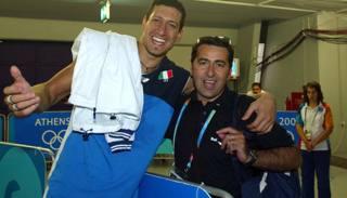 Fefè de Giorgi (destra) con l'azzurro Luigi Mastrangelo in una foto d'archivio