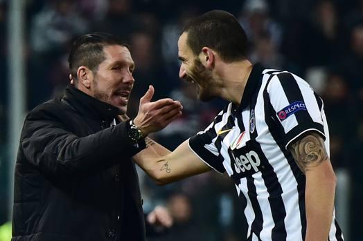 Simeone e Bonucci se la ridono: Juve-Atletico finisce 0-0, bianconeri agli ottavi, colchoneros primi
