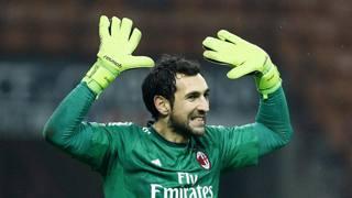 Diego Lopez, 33 anni, prima stagione tra i pali al Milan. LaPresse