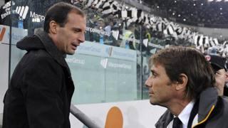 Max Allegri e Antonio Conte: presente e passato della panchina Juve. Afp