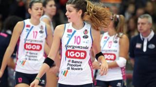 Cristina Chirichella, centrale del Novara capolista. Tarantini