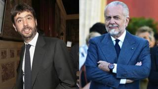 I presidenti di Juventus e Napoli, Andrea Agnelli e Aurelio De Laurentiis .