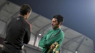 Gigi Buffon e Massimiliano Allegri a Doha in Qatar. LaPresse