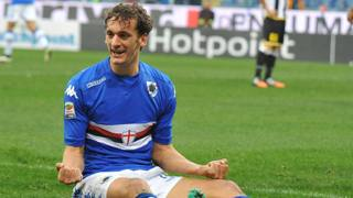 Manolo Gabbiadini, attaccante della Samp. Ansa