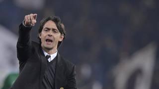 Pippo Inzaghi, 41 anni, prima stagione sulla panchina del Milan. LaPresse