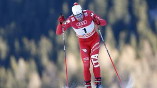 Federico Pellegrino a Davos, in Svizzera. AFP